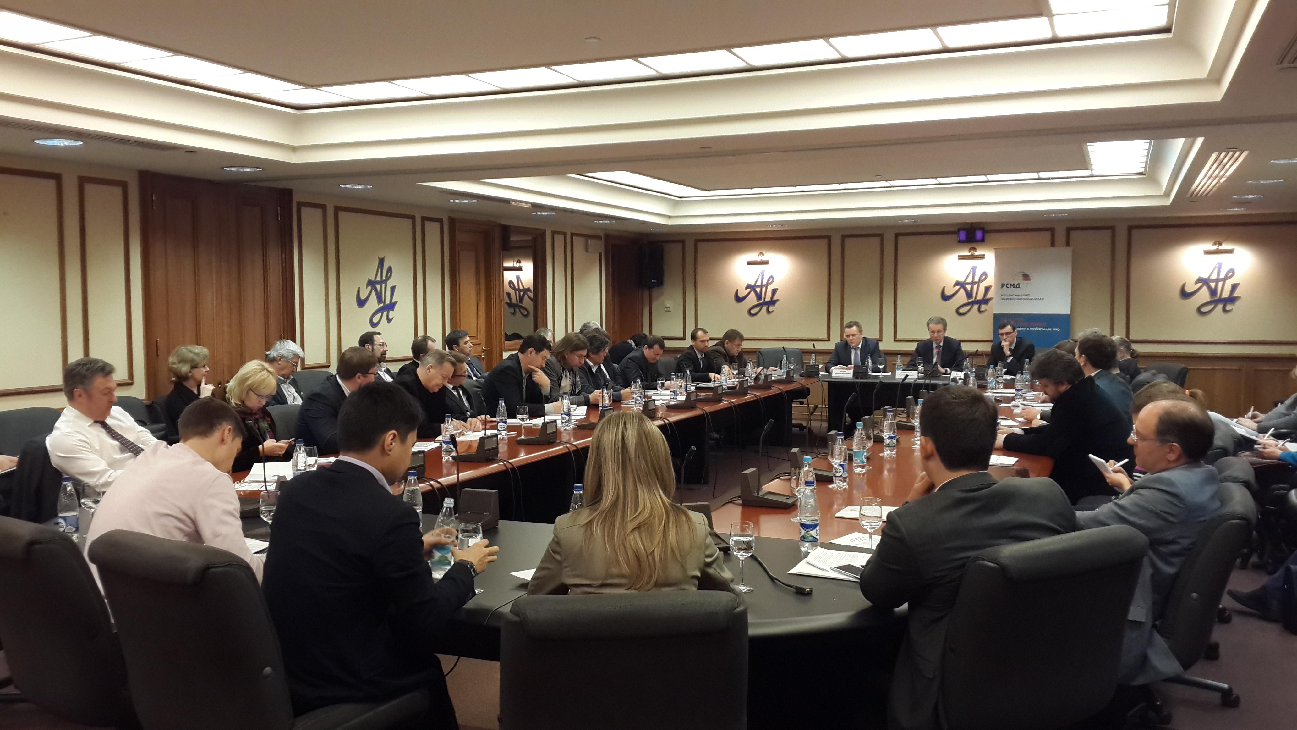 Первое заседание в Москве